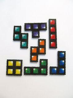 Tetris Perler bead Sprites by ShowMeYourBits