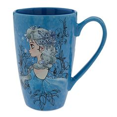 [Thaw out]Melt the morning frost from your mind with a warm beverage from our jumbo <i>Frozen</i> latte mug. Textured surface and mottled glaze makes the Elsa art even more empowering.