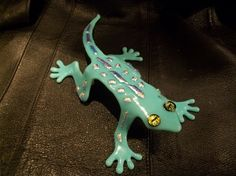Charming Fused Gecko Slumped Dichroic Glass Hand Carved Mold Original   juliannesofcalifornia - Novelty on ArtFire