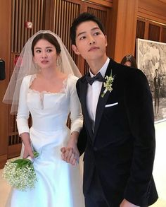 Song Joong-ki and Song Hye-kyo Song Hye Kyo, Song Joong Ki, Wedding Couples, Cute Couples, Wedding Day, Korean Actresses, Korean Actors, Korean Celebrities, Celebs
