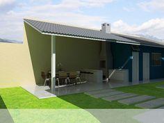 modelos de ediculas pequenas - Pesquisa Google Barbecue Design, Outdoor Projects, Outdoor Decor, Garden Design, House Design, Backyard Bar, Patio Interior, Indian Homes, Outdoor Living Areas