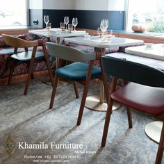 Kursi Restoran Terbaru Jati Solid Wood Dining Chairs, Dining Table, Cafe Furniture, Vienna, Home Decor, Dining Chair, Dinning Table, Interior Design, Dining Rooms