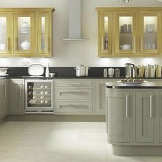 Kitchen-compare.com - Compare Retailers - Grey Painted Shaker - BQ Cooke & Lewis Carisbrooke Taupe