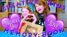 Creative Kids - Mother's Day Memory Books - Kids Craft! Easy Craft! - YouTube
