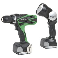 Hitachi DS14DSFL Lithium-Ion Cordless 14.4-Volt Driver Drill with Flashlight Case and Rechargeable Batteries...
