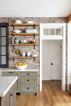 Brick Backsplash is Savannah Gray brick . Brick Backsplash is Sava Home, Kitchen Remodel, Kitchen Decor, Home Remodeling, Kitchen Redo, Home Kitchens, Farmhouse Kitchen, Kitchen Renovation, Kitchen Design