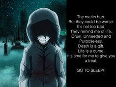 I just randomly wrote this poem thingy and it represented Jeff so much... I love creepypasta