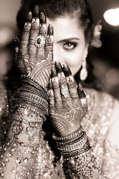 """Mehndi or Henna word comes from the Sanskrit Language as """"Mendhika"""". Henna Mehndi designs became a new cool, where they … Bridal Poses, Bridal Photoshoot, Bridal Shoot, Wedding Shoot, Wedding Pics, Wedding Dresses, Wedding Album, Indian Wedding Pictures, Bridal Pictures"""