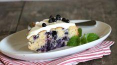 Blåbærkake med ostekrem - LINDASTUHAUG Frisk, Pudding, Desserts, Food, Tailgate Desserts, Deserts, Custard Pudding, Essen, Puddings