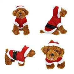 Yoption Pet Puppy Dog Christmas Clothes Santa Claus Costume Outwear Coat Apparel Hoodie XS -- Read more reviews of the product by visiting the link on the image.