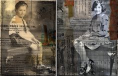 mixed media collages by michelle caplan