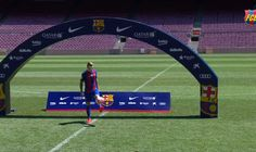 Barcelona unveil masked Lucas Digne after 16.5 million transfer from PSG (Videos)