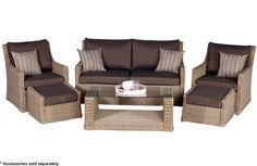 Add class and character to your indoor lounge, living room or outdoors on your enclosed deck, patio or verandah with the Roma 6 Piece Lounge Setting available exclusively at Barbeques Galore.