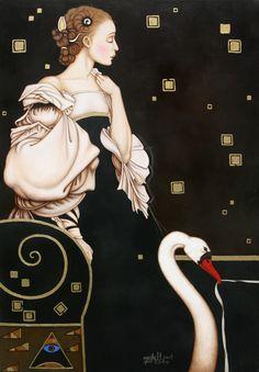 Leda II after Michael Parkes Art by Michalina Czarniecka