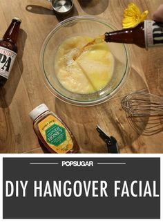 Cure Your Hangover-Ravaged Skin With a Beer Facial.... Interesting...