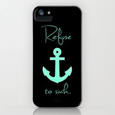 Refuse to sink Tiffany Anchor iPhone Case