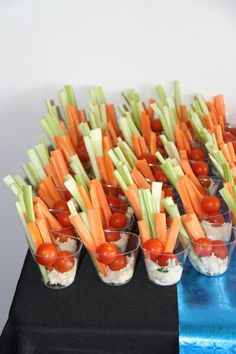 "Finger food. **LOVE to see #veggies being showcased! Instead of high fat & calorie laden ranch dips, try our ""Feel Good Ranch"" #Saladshots for all the flavor & none of the fattening calories & guilt! www.Saladshots.com"