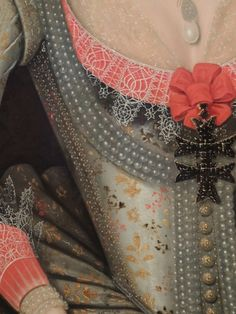 Details from Anne of Denmark, Gheeraerts, 1614 #Art #Detail