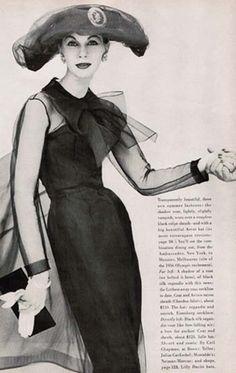 Ceil Chapman 1956   by BlueVelvetVintage.com