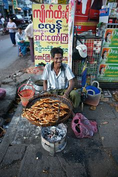 Rangoon Street Food   - Explore the World with Travel Nerd Nici, one Country at a Time. http://TravelNerdNici.com