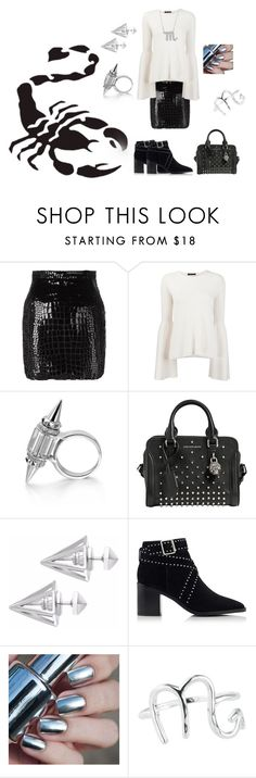 """""""Scorpion"""" by martine-a-nolan ❤ liked on Polyvore featuring WALL, Yves Saint Laurent, The Row, Alexander McQueen, Edge of Ember, Senso, Rock 'N Rose and Bling Jewelry"""