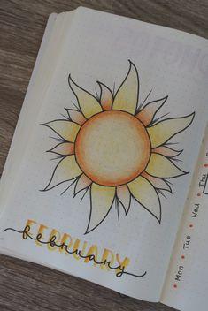 #bulletjournal #bujo #stationary #journaling #calligraphy #planner #february #sun