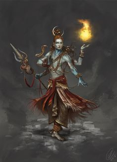 "The Hindu god Shiva, made for the art book ""Age of Pantheons"". Shiva Shakti, Rudra Shiva, Lord Shiva Hd Wallpaper, Shiva Tattoo, Arte Shiva, Angry Lord Shiva, Shivaji Maharaj Hd Wallpaper, Lord Shiva Hd Images, Lord Shiva Pics"