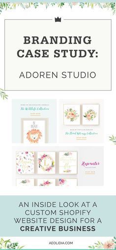 When Adoren Studio owner Tiffany Emery came to us, she was ready to take her creative business to the next level, as this branding case study will show! Branding Your Business, Creative Business, Design Food, Web Design, Portfolio Web, Entrepreneur, Build Your Brand, Video Games For Kids, Layout