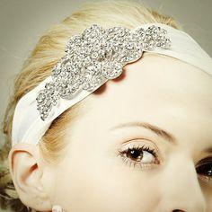 CALLIOPE+Victorian+Bridal+Headwrap+Crystal+by+GlamorousBijoux,+$149.00