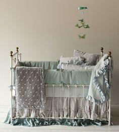 Satin Velvet 3-Piece Crib Bedding Set