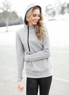 bfa74af53e Get your workout on in style with this half-zip runners hoodie. This hoodie