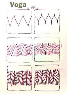 Voga. Tangle Pattern by Carol Ohl, CZT / Open Seed Arts.