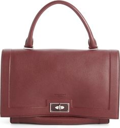 Givenchy small shark tooth calfskin leather satchel