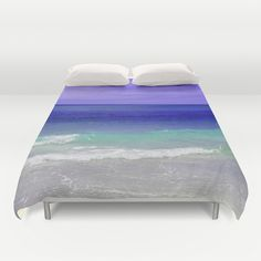 Create a surreal coastal look for your beach bedroom settings with this  royal blue sea water duvet cover bedding blanket throw! Available in Full,  Queen and King Size, this surf chic salt water themed find makes for a  great way to enhance the look and feel of any nautical sleep settings!   *Available in Full, Queen or King Size