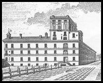 Figura 5: La facciata meridionale del Palazzo di Brera con la specola costruita dal Boscovich, in una stampa pubblicata nel volume delle Ephemerides Astronomicae per l'anno 1778.