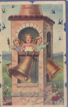 vecchie cartoline buona pasqua