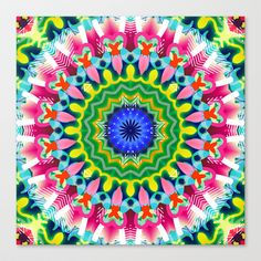 Mandala No.13 Stretched Canvas by GypsYonic - $85.00