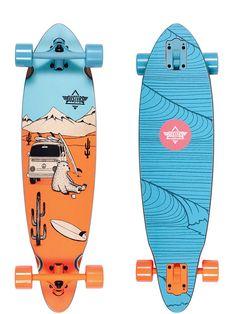 """Dusters Wagon 33"""" Longboard Skateboard"""