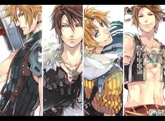 Final Fantasy.  Making the some of the handsomest anime guys in the world. <3 ^_^