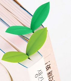 Bookworms will have fun marking their juiciest pages with the green and leafy Sprout Bookmark Set from Fred and Friends. Similar to the Grass Blades Bookmarks, Origami, Cute Bookmarks, Crochet Bookmarks, Back To School Supplies, Office Supplies, Art Supplies, Cute Stationery, Stationary, Marque Page