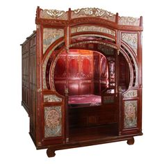 19th c chinese wedding bed... imagine making love in this.
