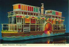 John Hinde postcards of Blackpool. Mississippi Steamer