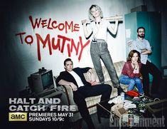 The promotional materials for the first season of AMC's '80s-set computer drama Halt and Catch Fire foregrounded three of the show's characters: Lee Pace's executive Joe MacMIllan, Mackenzie Davis's coder Cameron Howe, and Scoot McNairy's systems builder Gordon Clark. But in the key art for season 2 which you can exclusively see above, that trio has become a quartet with the addition of Kerry Bishé's Donna, the wife of Gordon.