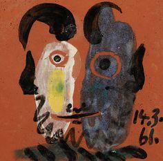 "Picasso's ""Tête de faune Ceramic tile 6 x 6 inches 1961"