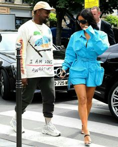 a9464a0f59e26 It s All About Kim Kardashian s Blue Minidress — Unless You Happen to Spot  Her Insane Shoes