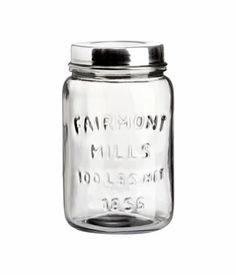 H Glass Jar; $7