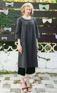 Association of double gauze cotton batten lace pants check (Limited Collection 3) | |. Syrup Felissimo