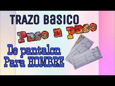 TUTORIAL DEL PASO A PASO DEL TRAZO BÁSICO DE PANTALÓN DE HOMBRE/ CLASE #23/ BERTHA BURITICA - YouTube Youtube, Diy, Men's, Sewing Tutorials, Men's Bottoms, Sewing Studio, Bricolage, Handyman Projects, Youtubers