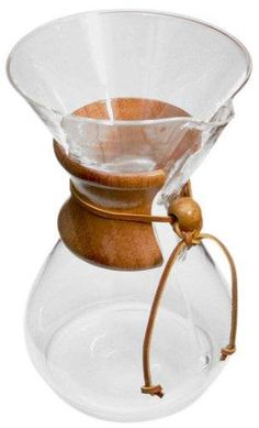 Chemex Classic Series Eight Cup Glass Coffeemaker - 8 Cup Coffee Maker Chemex Coffee Maker, Best Coffee Maker, Coffee Brewer, Drip Coffee Maker, Coffee Cups, Coffee Dripper, Hot Coffee, Ways To Make Coffee, Pour Over Coffee