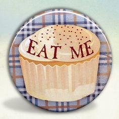 Alice in  Wonderland Eat Me Cupcake pocket mirror tartx